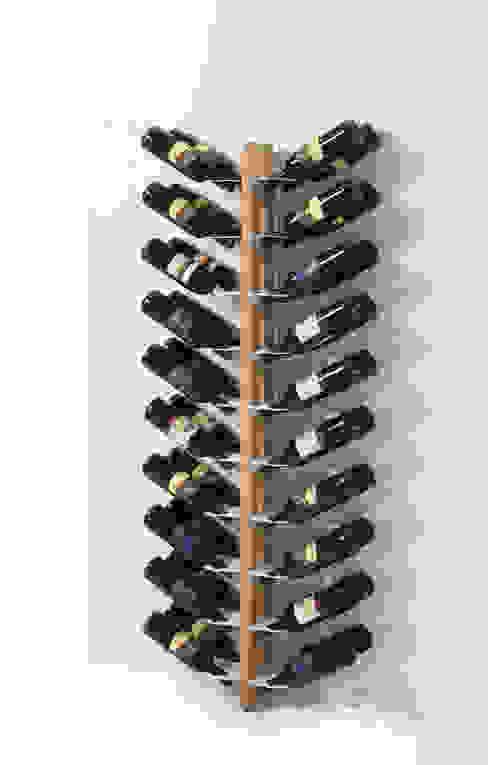 Zia Gaia | portabottiglie doppio a parete | h 150 cm Le zie di Milano CasaArticoli Casalinghi Legno massello Effetto legno