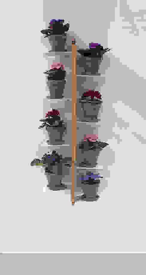 Zia Flora | portapiante sospeso | faggio naturale | h 105 cm di Le zie di Milano Minimalista Legno massello Variopinto