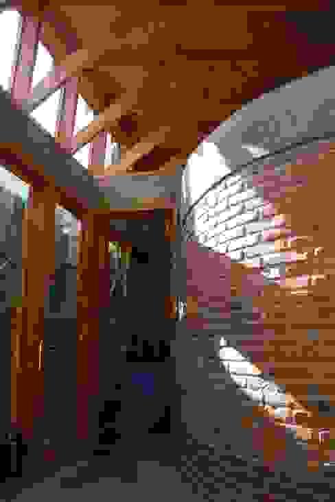 Hall de Entrada Pasillos, halls y escaleras rurales de ALIWEN arquitectura & construcción sustentable - Santiago Rural