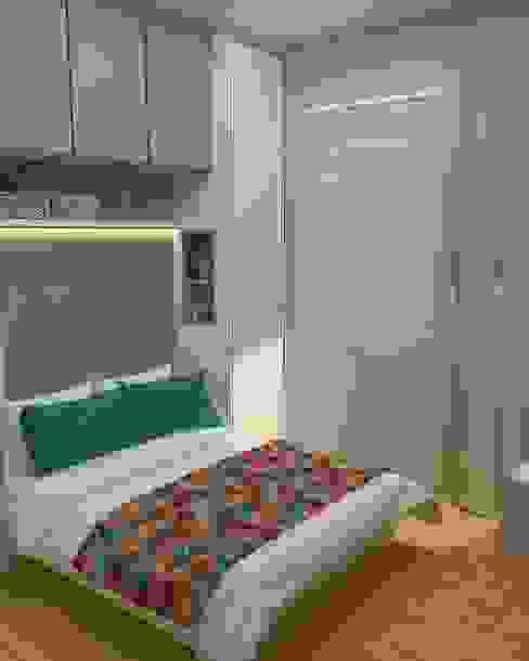 Dormitorios de estilo moderno de .Villa arquitetura e algo mais Moderno Tablero DM