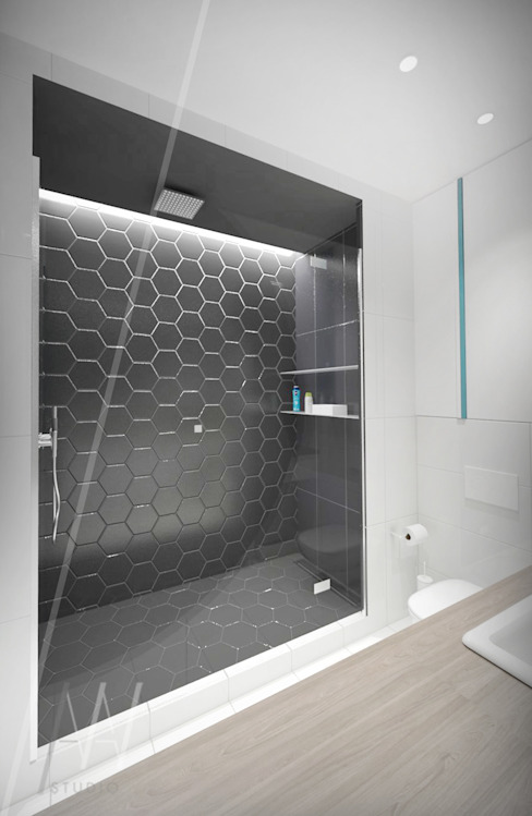 Modern bathroom by AAW studio Modern