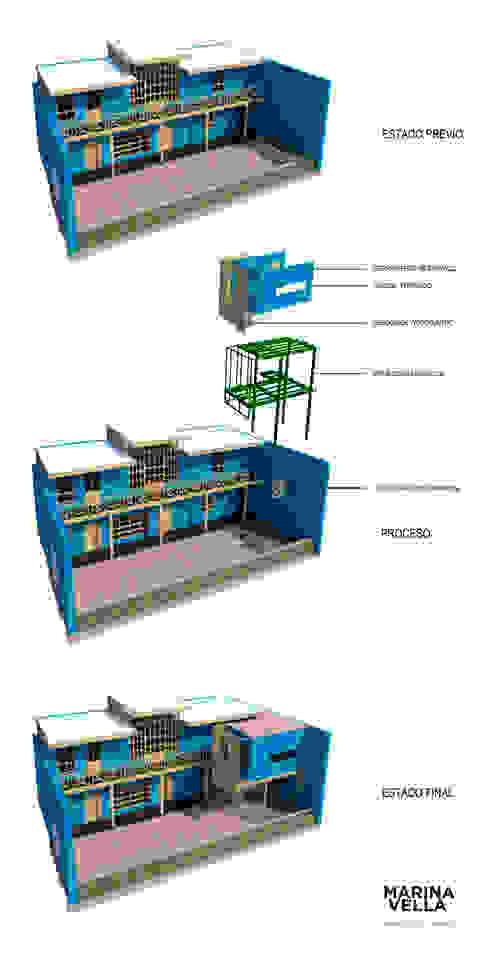 Casa Azul de Marina Vella Arquitectura Moderno