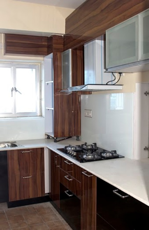 4 BHK in Bengaluru Cee Bee Design Studio Modern kitchen