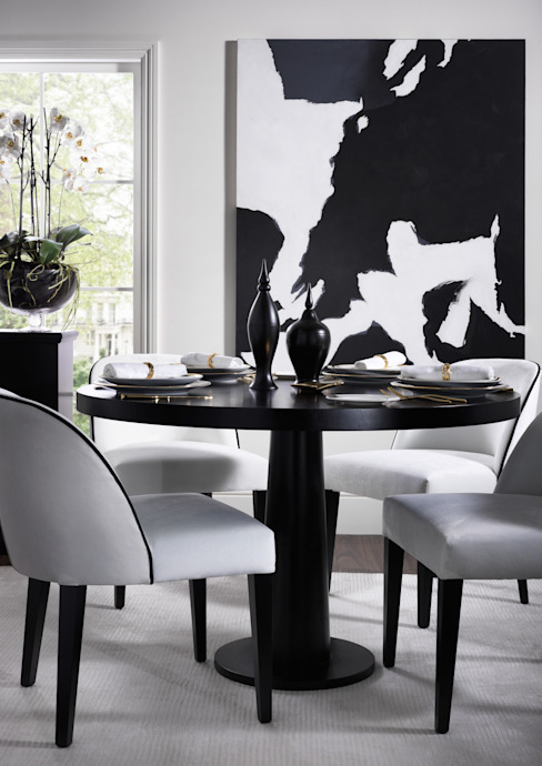 SS16 Style Guide - Refined Monochrome Collection - Dining Room Table: modern  by LuxDeco, Modern
