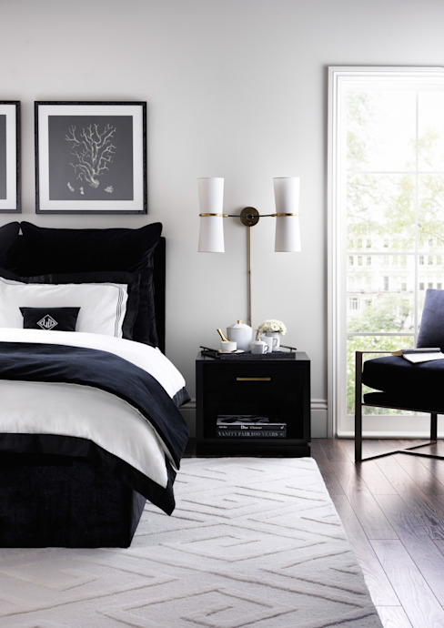 SS16 Style Guide - Refined Monochrome Collection - Bedroom: modern  by LuxDeco, Modern