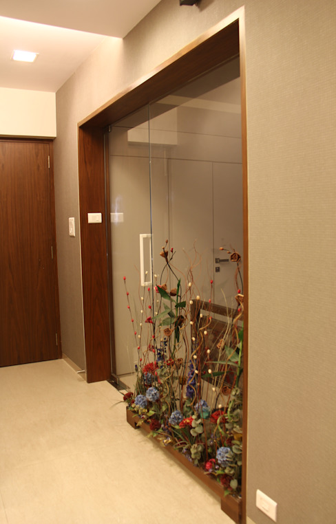 Prabhadevi Minimalist corridor, hallway & stairs by Elevate Lifestyles Minimalist