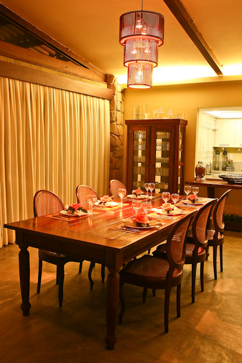 Duo Arquitetura Country style dining room Wood Beige