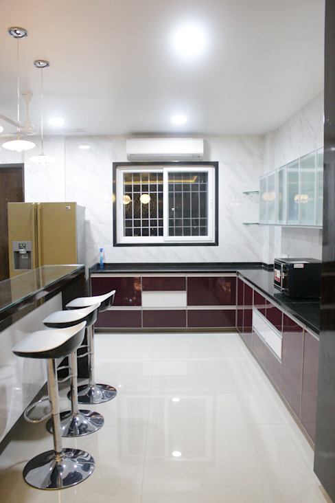 Mr. Sharma House Modern kitchen by homify Modern