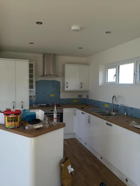 Kitchen neary complete. Building With Frames Kitchen Wood