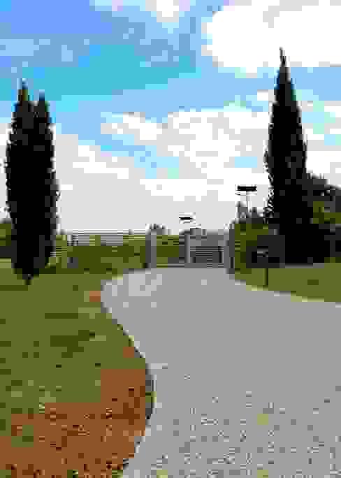 Allée gravier Constans Paysage Jardin moderne