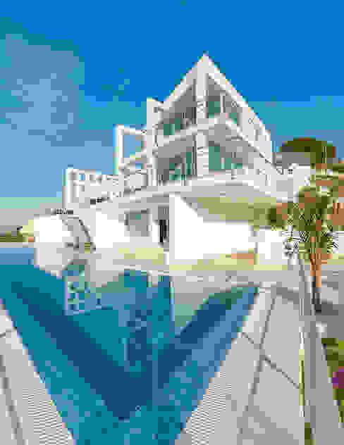 Casa Vary House Piletas minimalistas de Househam Henderson Minimalista Hormigón