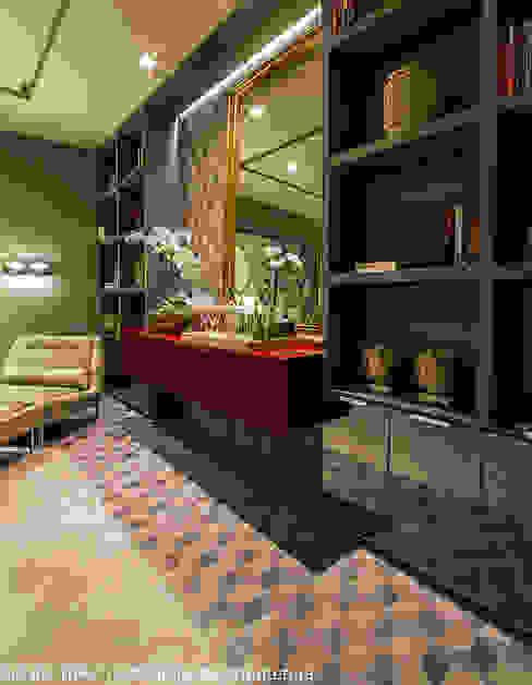 Carolina Mota - Arquitetura, Interiores e Iluminação Salas de entretenimiento de estilo moderno