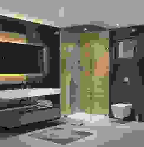 Panorama villaları F&F mimarlik Modern Banyo Mermer Siyah