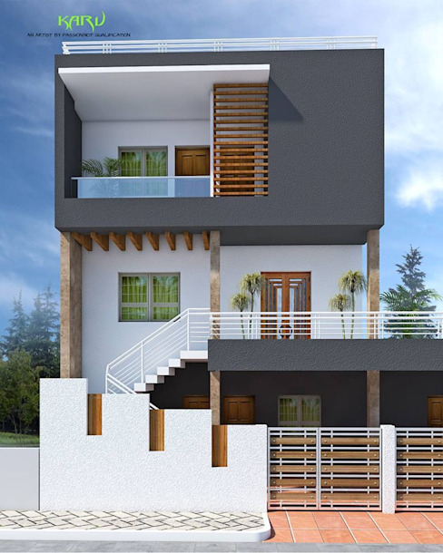 A SMALL BUNGALOW Modern houses by KARU AN ARTIST Modern