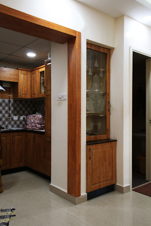 Appasamy Mapleton pallikaranai..:  Kitchen by Ashpra Interiors,