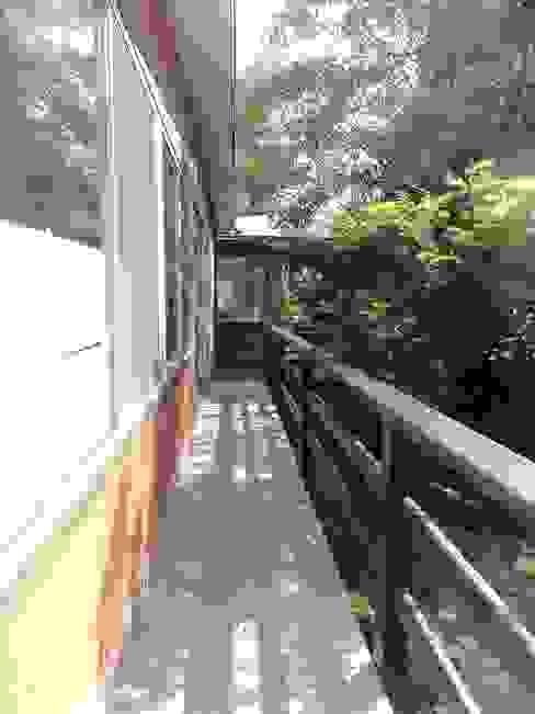 Veranêio Gaivota Varandas, alpendres e terraços campestres por AP Arquitetura Ecoeficiente Campestre