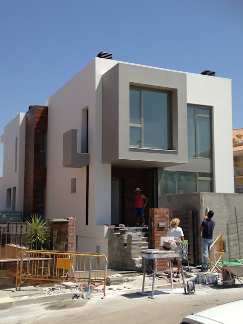 Casas de estilo  por FRAMASA CONSTRUCTORA DEL NOROESTE SLU, Moderno