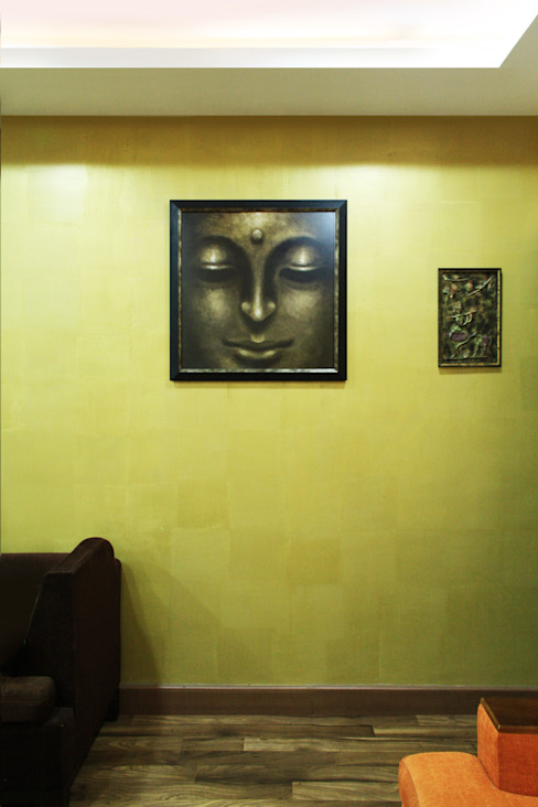 THIRUVANMAYUR BEACH HOUSE.. Asian style walls & floors by Ashpra Interiors Asian Plastic