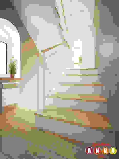 Мятное настроение Коридор, прихожая и лестница в скандинавском стиле от Дизайн-студия Анны Игнатьевой Скандинавский