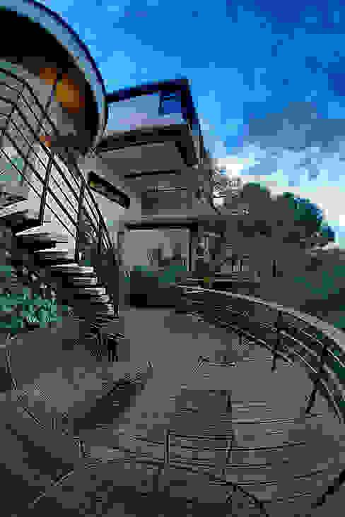 Casa LA 356 - RIMA Arquitectura Balcones y terrazas modernos de RIMA Arquitectura Moderno Concreto