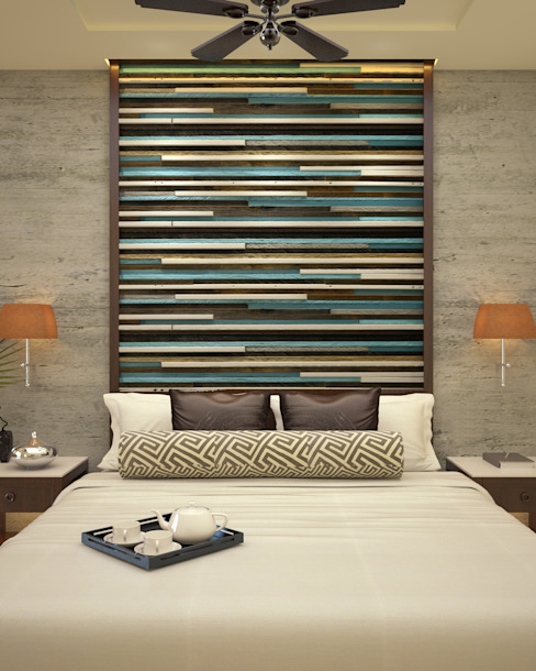 Headboard Asian style bedroom by Vaibhav Patel & Associates Asian Engineered Wood Transparent