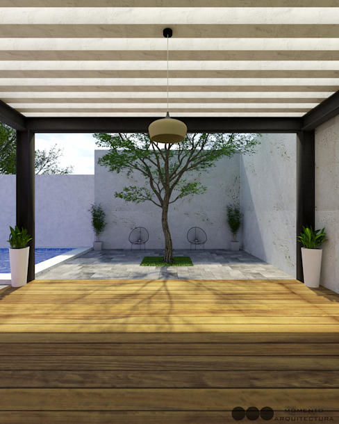Garden by MOMENTO Arquitectura, Modern