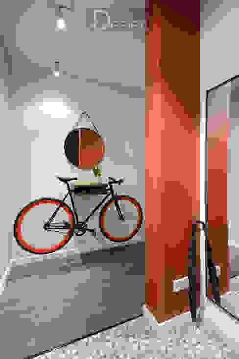 隨意取材風玄關、階梯與走廊 根據 Design Service 隨意取材風 水泥