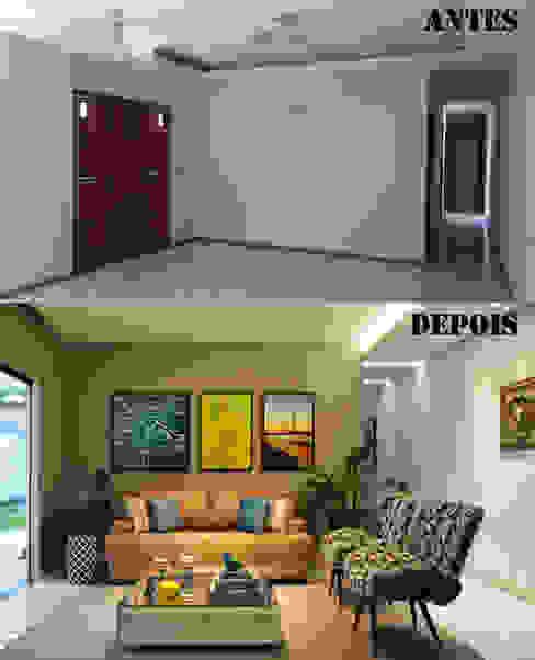 Antes e Depois Sala de Estar Salas de estar modernas por CARDOSO CHOUZA ARQUITETOS Moderno