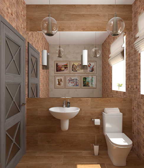 Eclectic style bathroom by Студия дизайна Дарьи Одарюк Eclectic