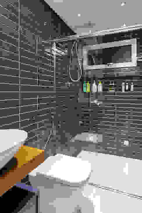 Banheiro Masculino Banheiros industriais por Motirõ Arquitetos Industrial Cerâmica