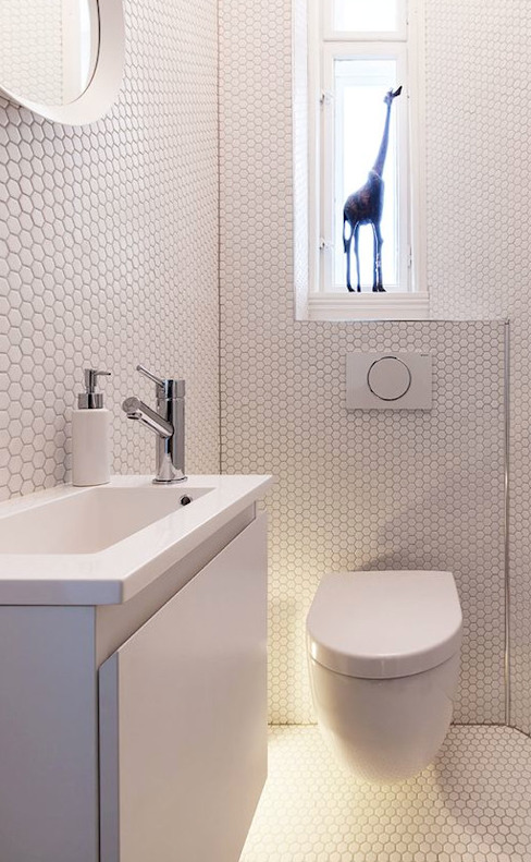trend group Modern style bathrooms Tiles White