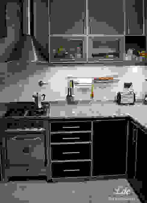 Nowoczesna kuchnia od LDC Arquitectura Nowoczesny Matal