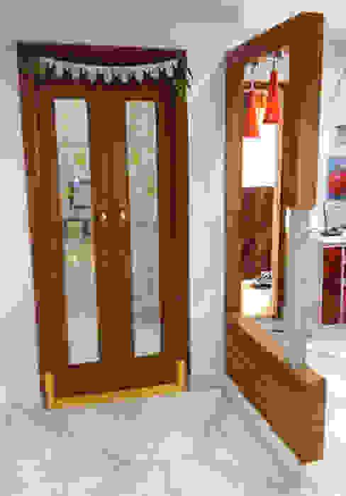 Puja Room Urban Shaastra Modern corridor, hallway & stairs