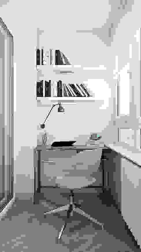 Квартира-студия для студентки Рабочий кабинет в скандинавском стиле от СВЕТЛАНА АГАПОВА ДИЗАЙН ИНТЕРЬЕРА Скандинавский