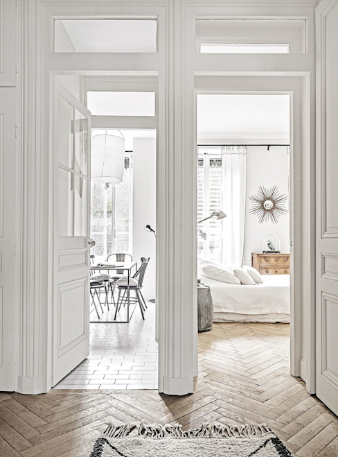 Scandinavian style corridor, hallway& stairs by Design for Love Scandinavian