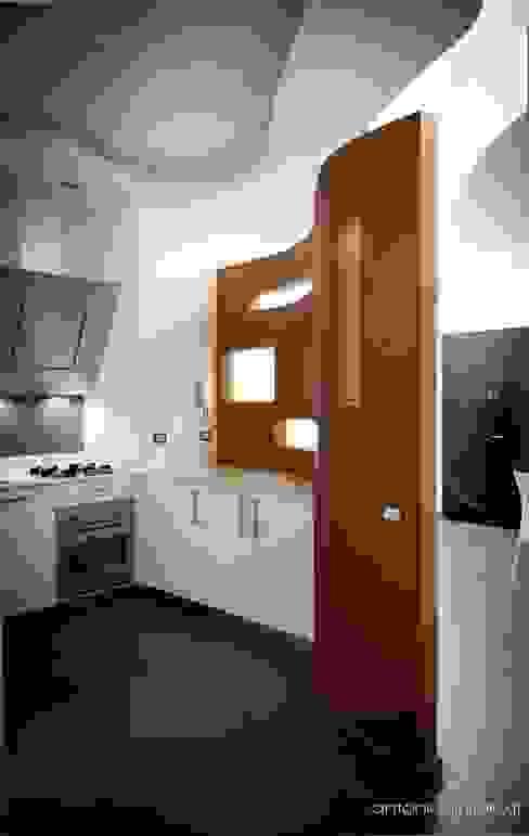 cucina-living homify Soggiorno minimalista