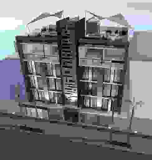 """Conjunto Habitacional """"Los Pinos"""" Lima Arquitectos Casas modernas Concreto Blanco"""