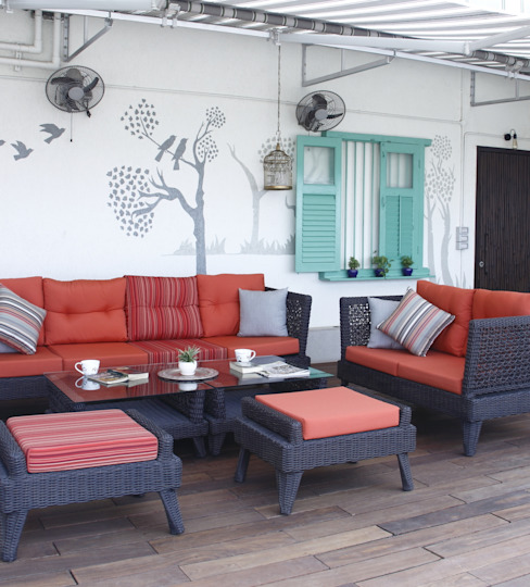 Private terrace at Aristo Sapphire:  Terrace by Neha Changwani