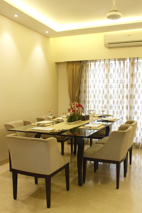 .. Minimalist dining room by Neha Changwani Minimalist