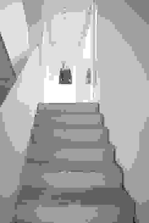 Couloir, entrée, escaliers modernes par Schiller Architektur BDA Moderne