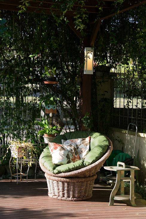 Balkon, Beranda & Teras Gaya Rustic Oleh Expace - espaços e experiências Rustic Kayu Wood effect