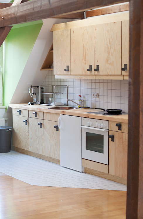 Industrial style kitchen by woodboom Industrial Wood Wood effect