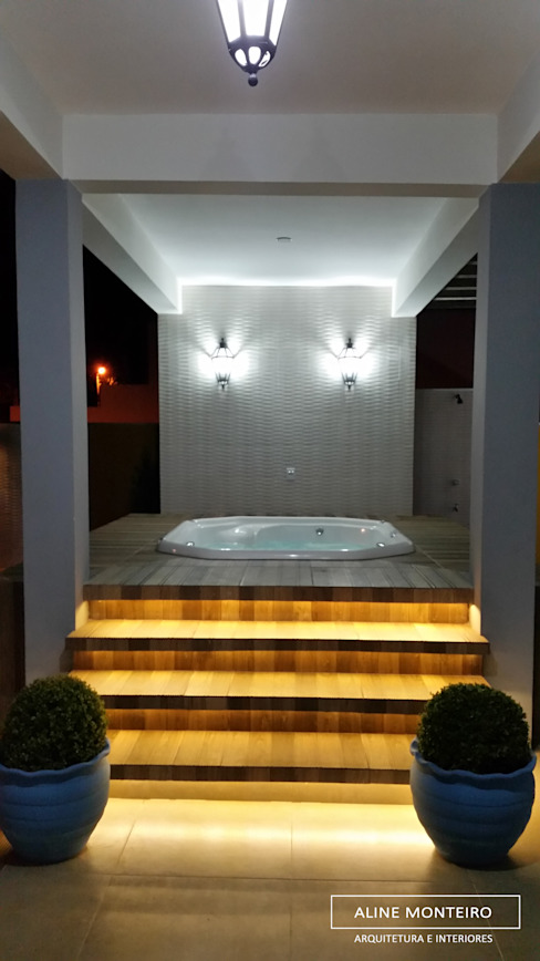 Spa por Monteiro arquitetura e interiores Moderno