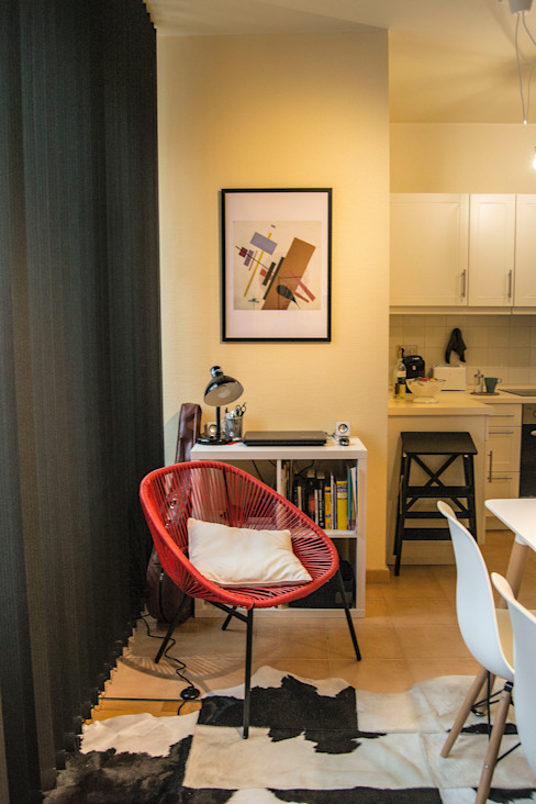 Decoración interior de vivienda en Berlín Modern Oturma Odası garcia navalon arquitecto Modern