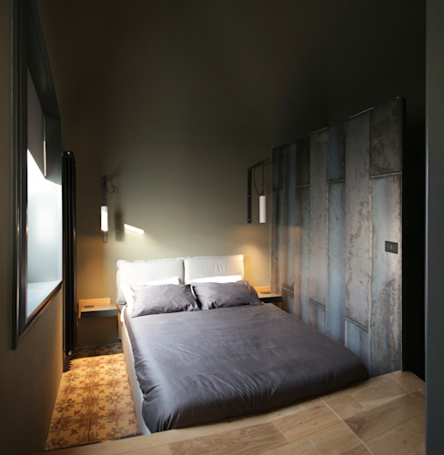 Bedroom by studioSAL_14, Minimalist Iron/Steel