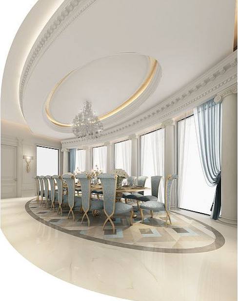 Fascinating Formal Dining Room Design من IONS DESIGN إستعماري رخام