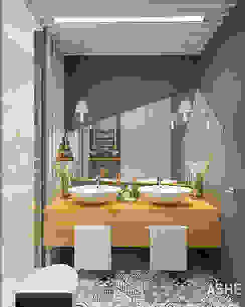 Квартира в ЖК Сосны: Ванные комнаты в . Автор – Студия авторского дизайна ASHE Home, Эклектичный