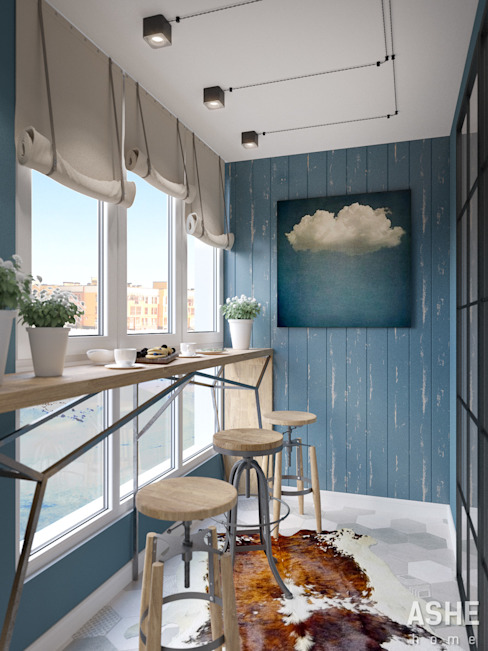 Terraços  por Студия авторского дизайна ASHE Home