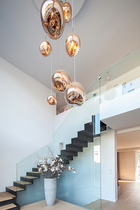 Modern Corridor, Hallway and Staircase by BESPOKE GmbH // Interior Design & Production Modern