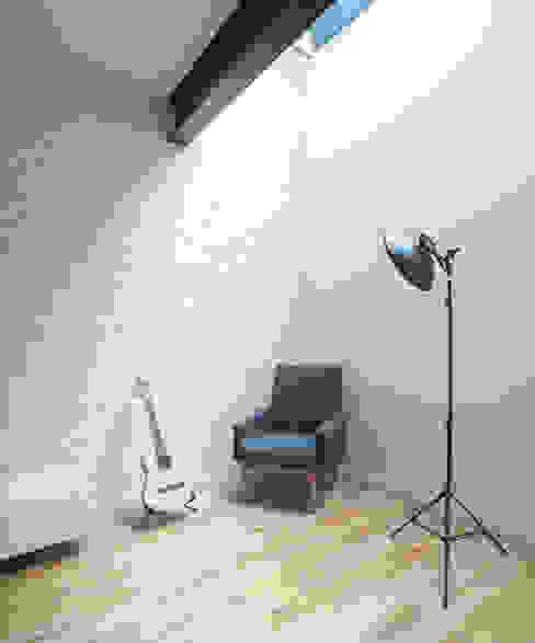 Salon de style  par homify, Moderne Briques